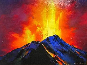 Volcanic Roar 2019 34x44 Original Painting - Thomas Leung