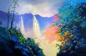 Summer Time Falls 2017 47x71 Original Painting - Thomas Leung