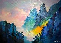 Magical Mountain 2018 39x55 Super Huge Original Painting by Thomas Leung - 1