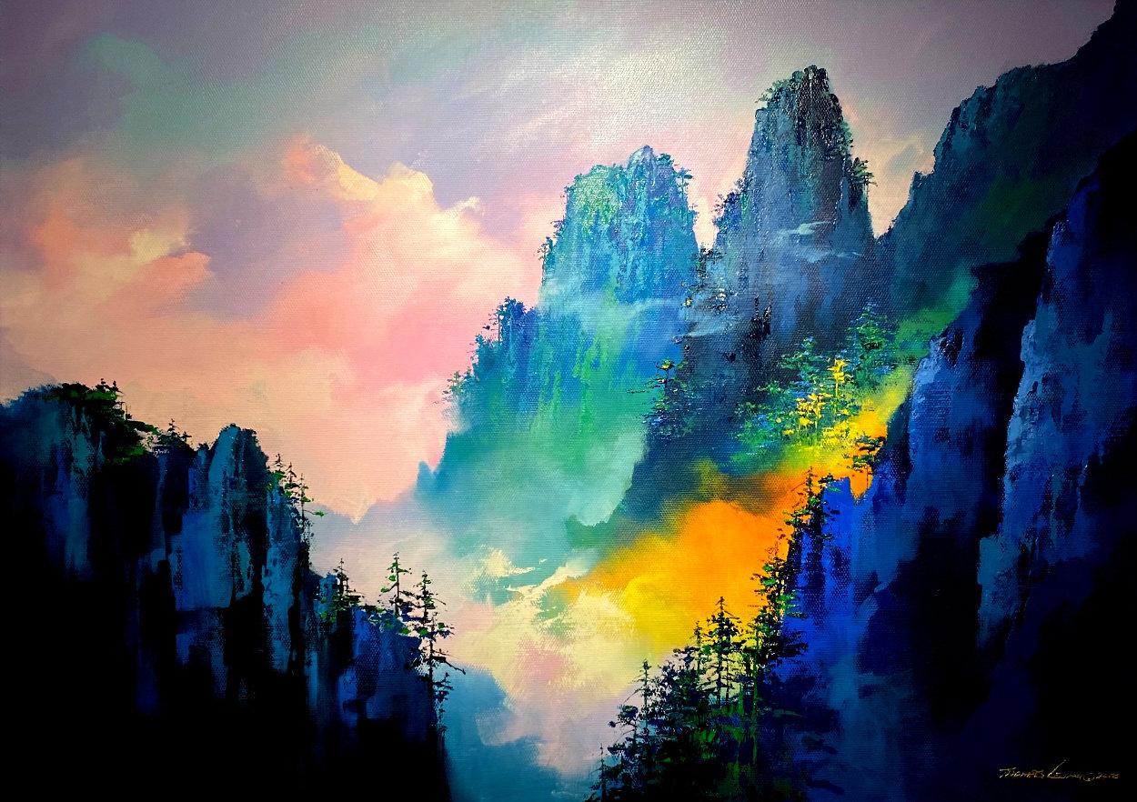 Magical Mountain 2018 39x55 Super Huge Original Painting by Thomas Leung