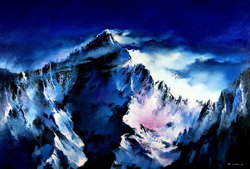 Mt. Everest Peak 2019 46x67 Original Painting - Thomas Leung