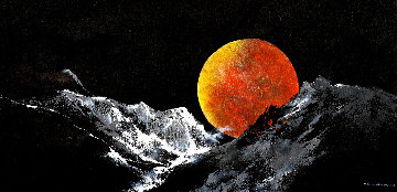 Harvest Moon 2018 33x69 Original Painting - Thomas Leung