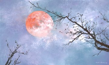 Under the Moon 2019 29x49 Original Painting - Thomas Leung