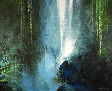 Secret Place 2015 39x47 Original Painting - Thomas Leung
