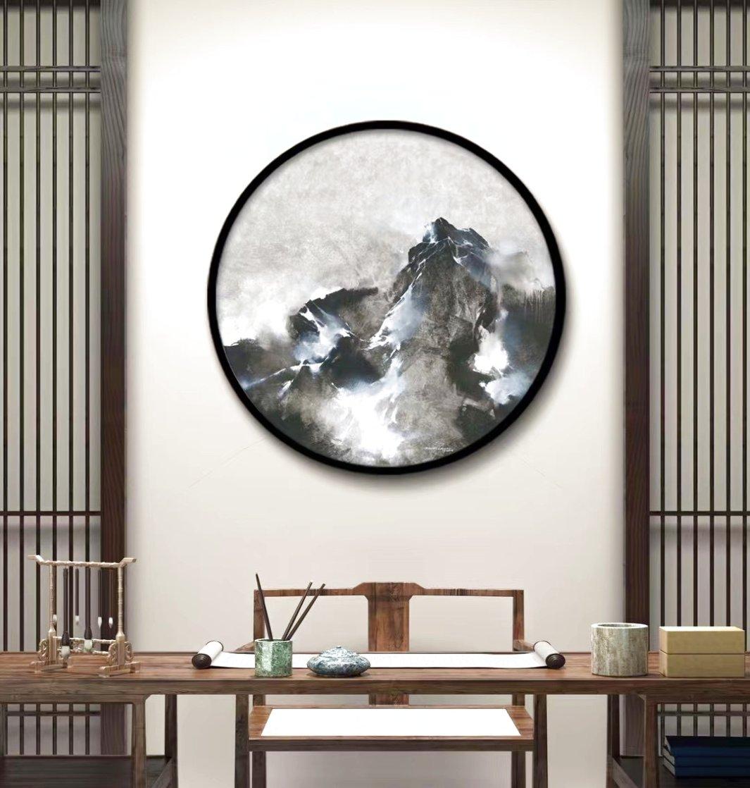 Mountain Rhapsody 2019 41x41 Huge Original Painting by Thomas Leung