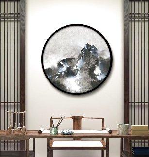 Mountain Rhapsody 2019 41x41 Huge Original Painting - Thomas Leung