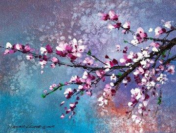 Winter Blossom II 2019 11x15 Original Painting - Thomas Leung