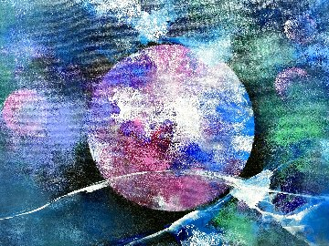 Outer Space 2018 32x39 Original Painting - Thomas Leung