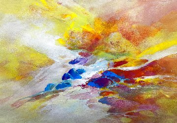 Steam #6 2015 20x28 Original Painting - Thomas Leung