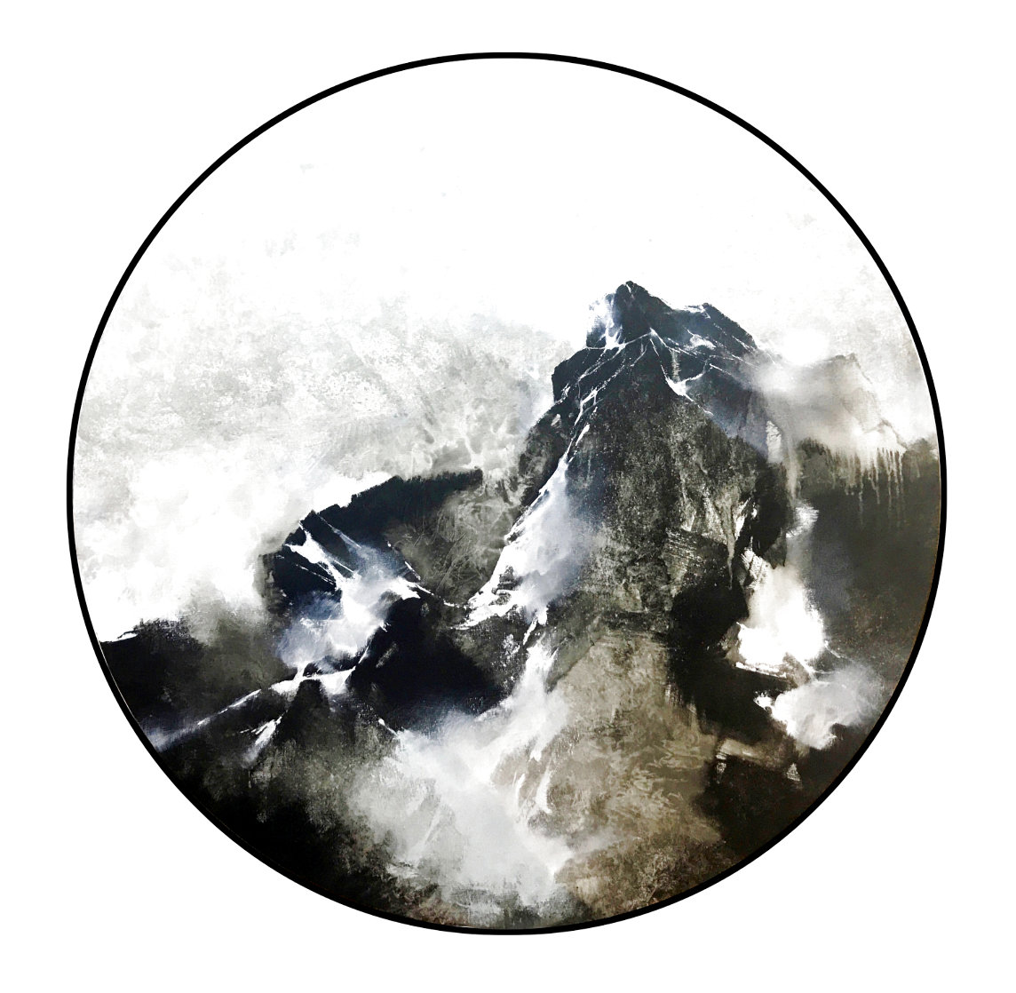 Mountain Rhapsody 2019 40x40 Original Painting by Thomas Leung