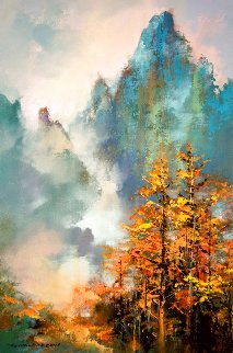Autumn At Huangshan 2019 30x20 Original Painting - Thomas Leung