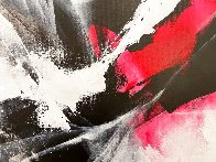 Red Motion 2018 39x31 Original Painting by Thomas Leung - 1