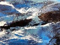 Blue 2015 24x36 Original Painting by Thomas Leung - 2
