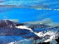 Blue 2015 24x36 Original Painting by Thomas Leung - 1