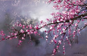 Winter Blossom II 2018 20x30 Original Painting - Thomas Leung