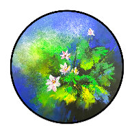 Lotus Pond After Rain 2020 39x39 Original Painting by Thomas Leung - 1