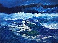Sea 2017 35x47 Super Huge Original Painting by Thomas Leung - 0