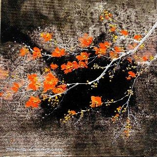 Grisaille Blossom 2019 12x12 Original Painting - Thomas Leung