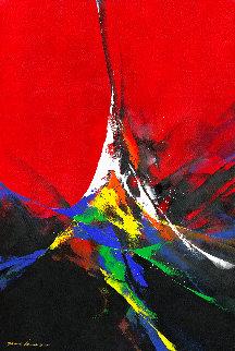Joy 2020 59x39 Huge Original Painting - Thomas Leung