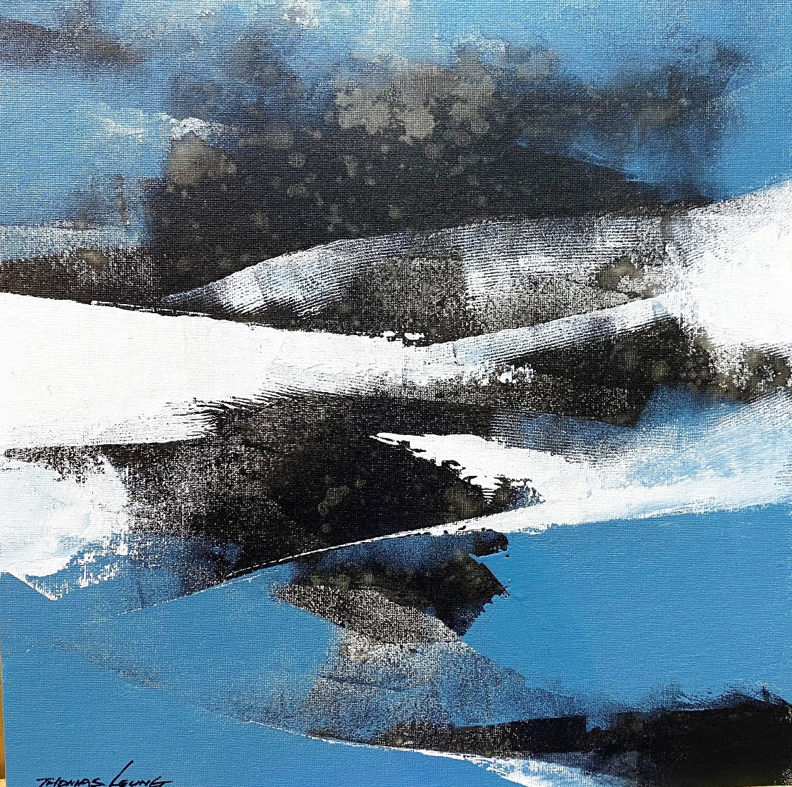 Wave 17 2020 16x16 Original Painting by Thomas Leung