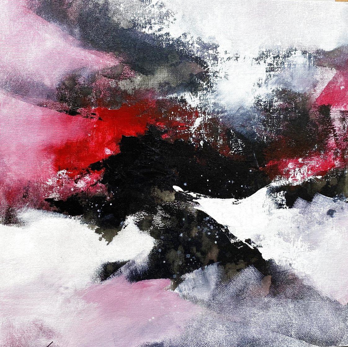 Wave 18 2020 16x16 Original Painting by Thomas Leung