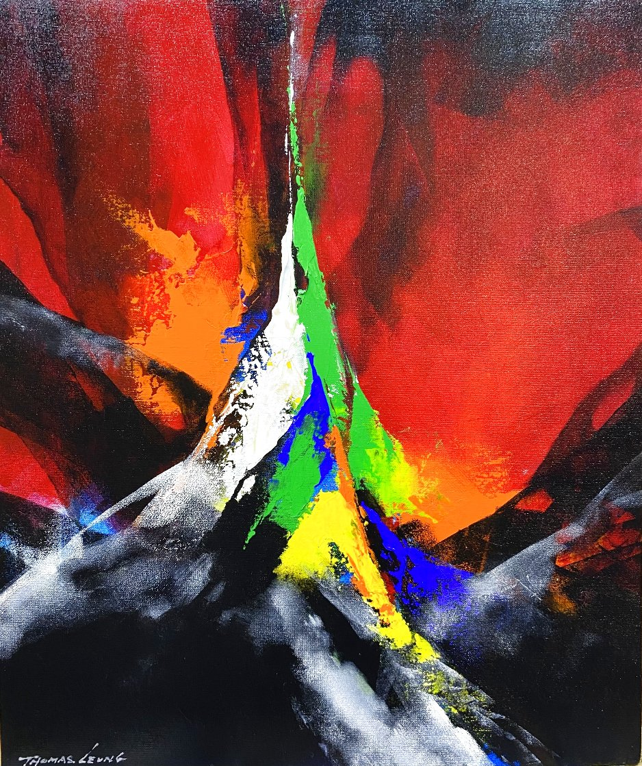 Joyful II 2020 24x20 Original Painting by Thomas Leung