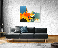 Expanse 2019 59x70 Huge Original Painting by Thomas Leung - 1