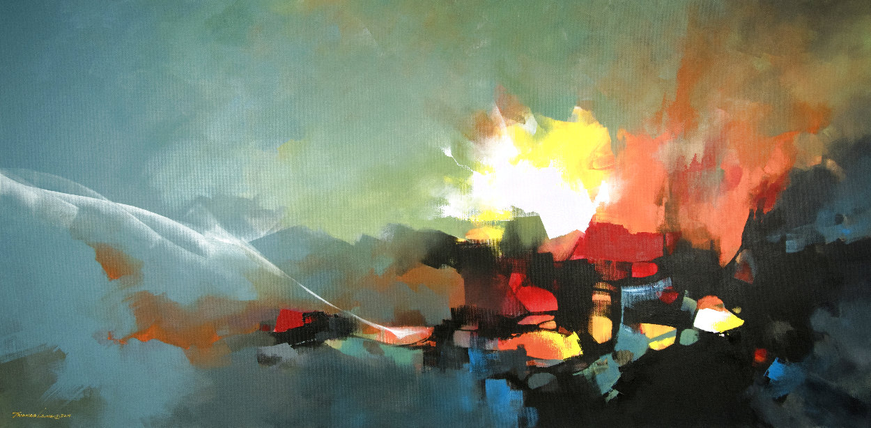 Exploration 2019 47x98 Huge Original Painting by Thomas Leung