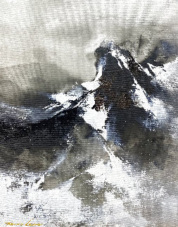 Snow Mountain Top 2020 20x16 Original Painting - Thomas Leung