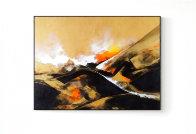 Golden Time 2014 59x70  Huge Original Painting by Thomas Leung - 1