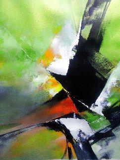 Green Energy 2017 25x21 Original Painting - Thomas Leung