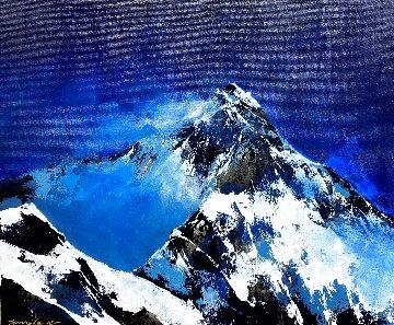 Night Mountain 2020 20x24 Original Painting - Thomas Leung