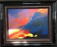 Sea of Fire 55x67 Super Huge Original Painting by Thomas Leung - 1
