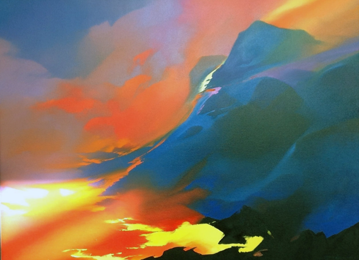 Sea of Fire 55x67 Super Huge Original Painting by Thomas Leung
