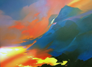 Sea of Fire 55x67 Original Painting by Thomas Leung