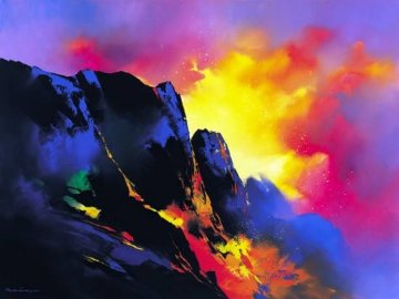 Lava's Descent Embellished Limited Edition Print by Thomas Leung