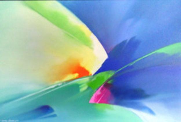 Wind Dancer 1998 30x42 Original Painting by Thomas Leung