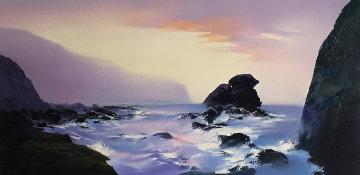 Shell Beach 24x48 Original Painting by Thomas Leung