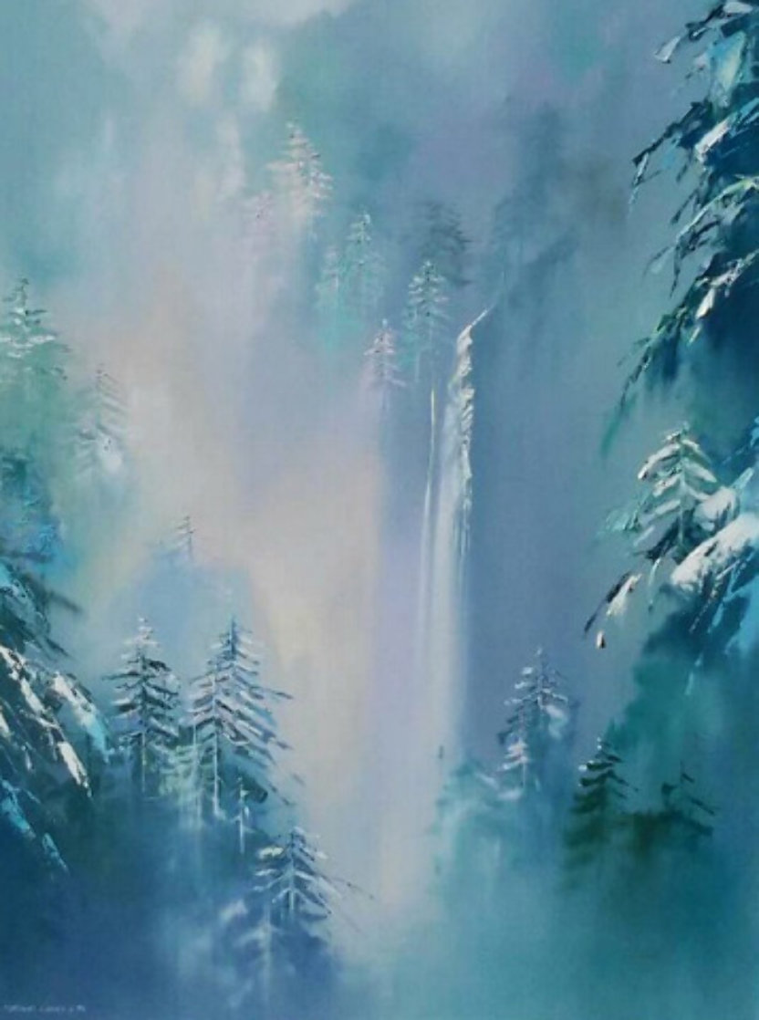 Winter Splendor 48x36 Super Huge Original Painting by Thomas Leung