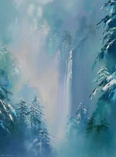 Winter Splendor 48x36 Super Huge Original Painting - Thomas Leung