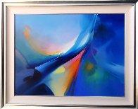 Phoenix Rising 1990 58x48 Super Huge Original Painting by Thomas Leung - 1