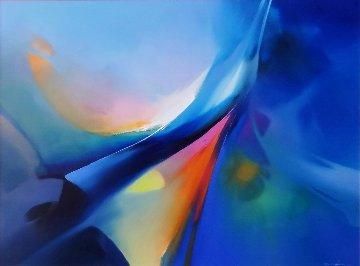 Phoenix Rising 1990 58x48 Original Painting - Thomas Leung