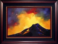 Fire Storm 2005 48x36 Hawaii Super Huge Original Painting by Thomas Leung - 1