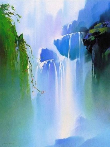 Misty Falls 1991 Limited Edition Print by Thomas Leung