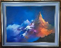 Alpine Glow 1990 48x38 Super Huge Original Painting by Thomas Leung - 1