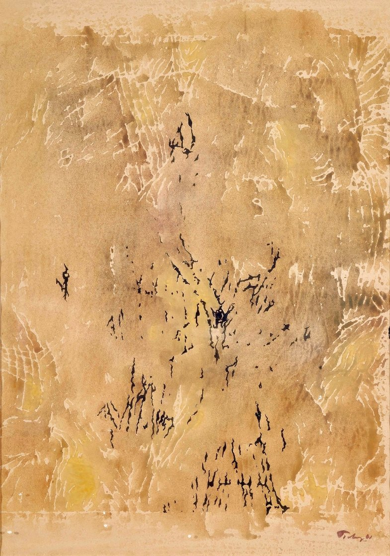 Monotype 27x19 Works on Paper (not prints) by Mark Tobey