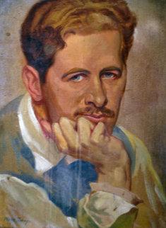 Self Portrait 1925 15x11 Original Painting by Mark Tobey