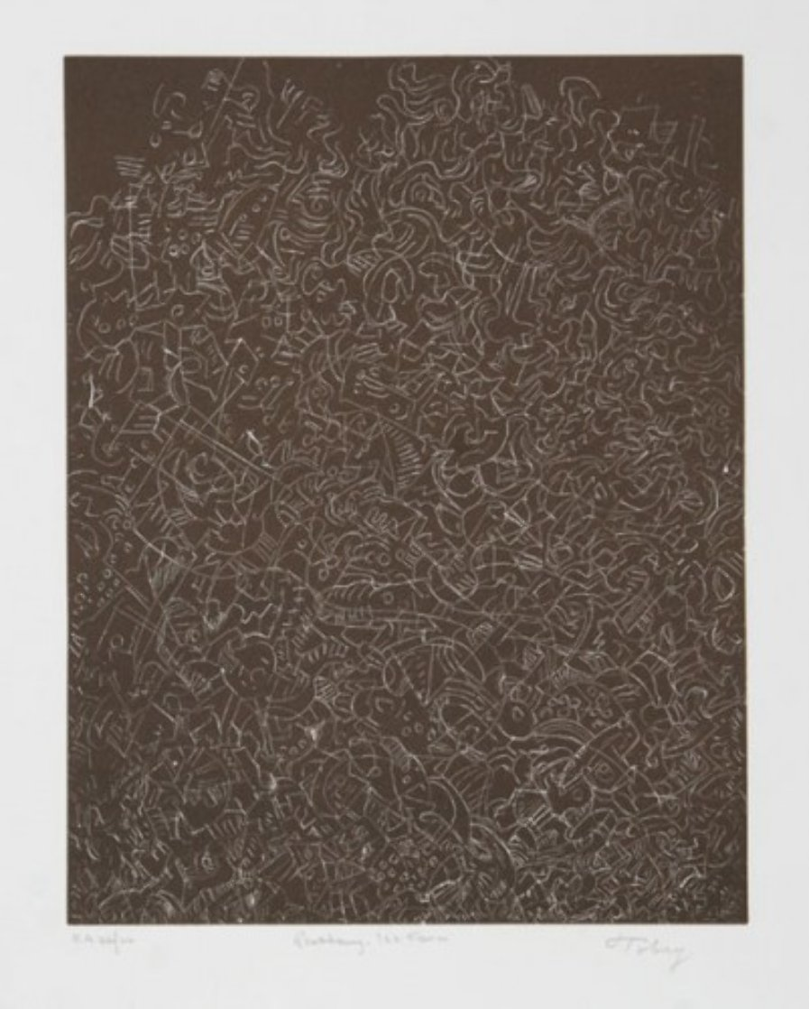 Psaltery, 1st Form 1974 Limited Edition Print by Mark Tobey
