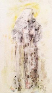 Monk Watercolor Watercolor by Mark Tobey