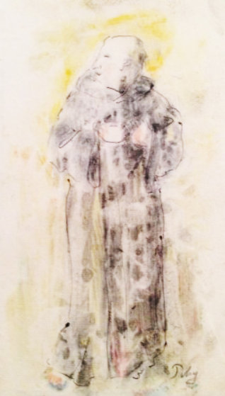 Monk Watercolor Watercolor by Mark Tobey
